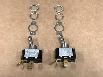 2 Pack Heavy Duty Toggle Switches Spst Onoff 15a-125v Made In Usa By Carling