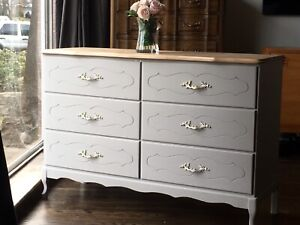 Delivery - pretty vintage French provincial dresser refinished