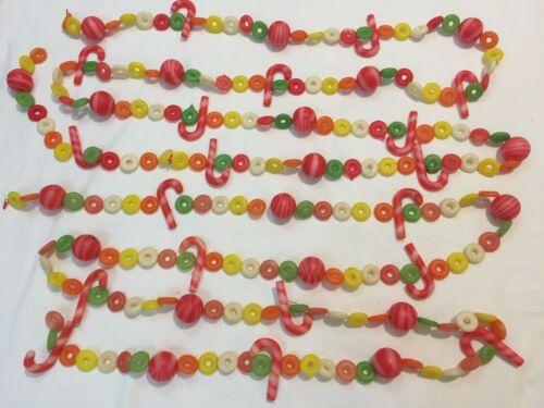 VTG Plastic Candy Christmas Garland 11 Foot Length Made In Hong Kong