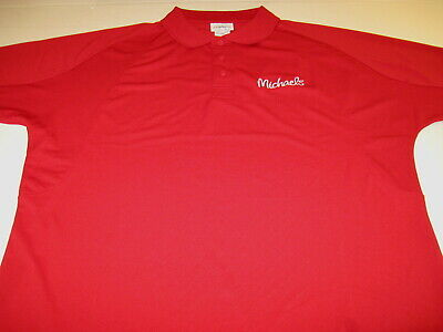 Michaels Arts Crafts Supply Retail Stores Embroidered Golf Polo Shirt New! - Michael Art Supply
