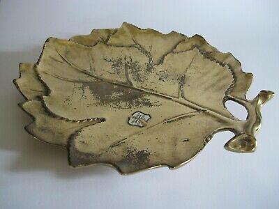Schöne massive Messing Bronze Schale Dekoration Blattform