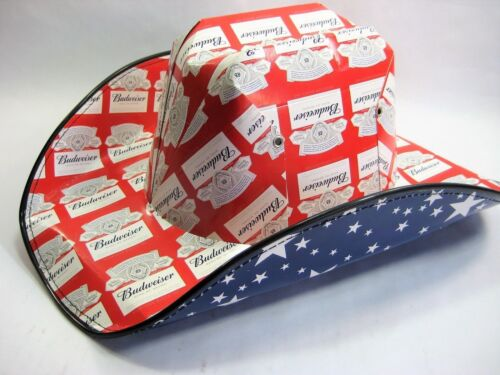 BUDWEISER Beer Box COWBOY HAT Anheuser Busch NEW ONE SIZE Free Priority Shipping