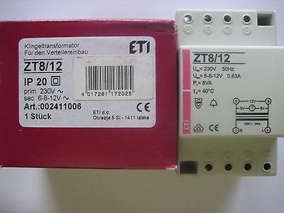 Klingeltrafo Klingeltransformator Einbau 6V - 8V - 12V // 0,63A