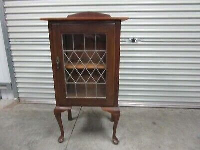 Antique/Vintage Leadlight Door Display Cabinet, Deer Park VIC.