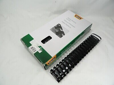 Fellowes Crc52369 Plastic Binding Combs 2 51 Mm 400-500 Sheets Black 10 Pack