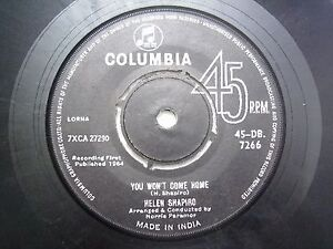 HELEN-SHAPIRO-45-DB-7266-BLACK-RARE-SINGLE-7-45-RPM-INDIA-INDIAN-VG