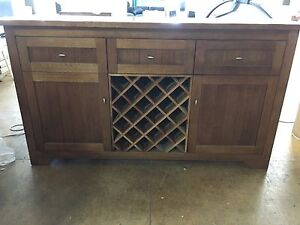 BRAND NEW Timber Buffet w/ Wine Racks Revesby Bankstown Area Preview