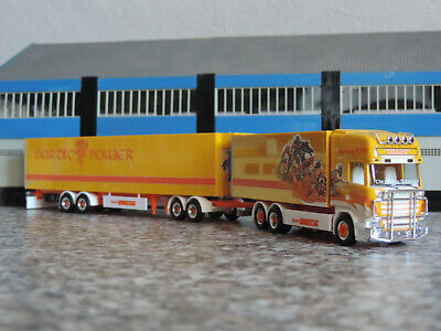 """Herpa 941266 # Scania R TL Kühlkoffer-SZ /"""" Lechner Trans /"""" 1:87 I Pink Lady"""