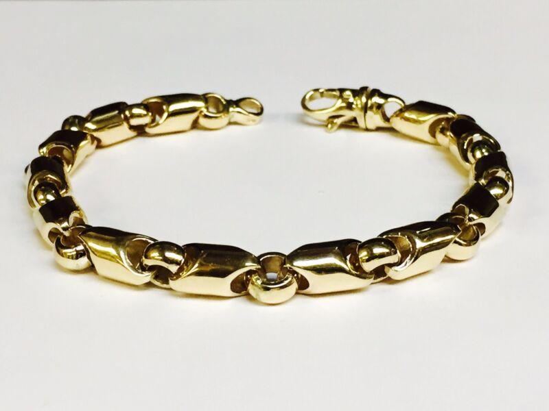 18kt Yellow Gold Handmade Link Men