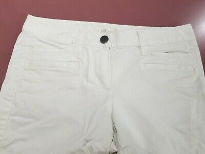 Ann Taylor Loft White Marisa Ankle Pants Crop Size 4P worn/washed only once