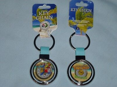 It's Five O'Clock Somewhere MARGARITAVILLE Silver Spinner KEYCHAIN/KEYRING  NWT