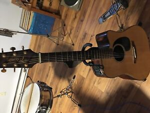 Acoustic guitar with electric pickup