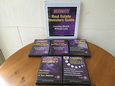 Create Wealth Without Cash Real Estate Course! By Thomas Kish 5 CDs & MANUAL!