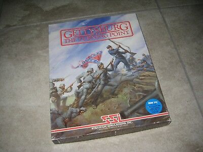 Vintage Ssi Gettysburg The Turning Point Ibm Pc 1986 5 1 4 Computer Game Used