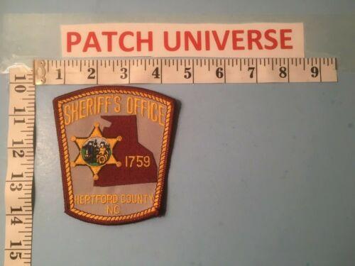 HERTFORD COUNTY NC SHERIFF  SHOULDER PATCH  Q011