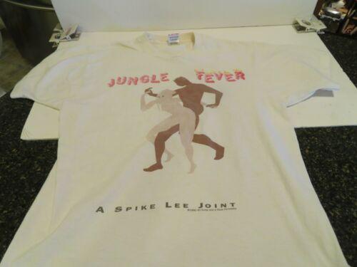 Vintage 1990 Spike Lee Jungle Fever NYC 90s Hip Hop White T Shirt  LARGE