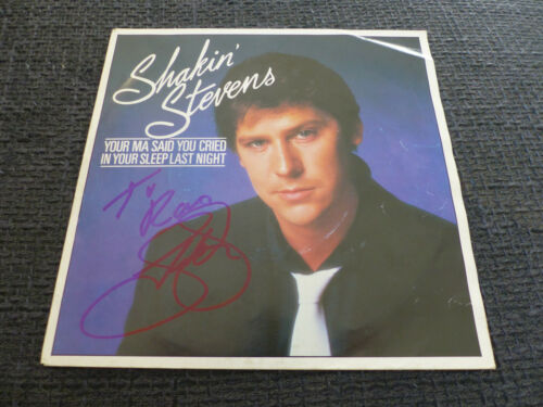 "SHAKIN STEVENS signed signiert Autogramm auf ""YOUR MA SAID YOU"" Platte InPerson"