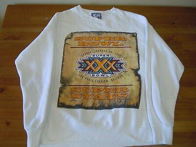 Nfl 1996 Super Bowl Xxx Super Stats 1967 1995 Sweater Color White Size Large