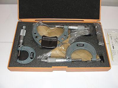 Mitutoyo 103-927 Outside Micrometer Set 3 Piece Set