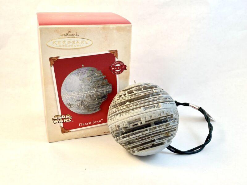 Hallmark Star Wars Death Star Keepsake Ornament 2002 Light & Voice