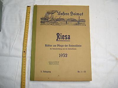 Unsere Heimat , Riesa , Blätter zur Pflege der Heimatliebe , gebunden , 1932