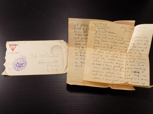 WW1 LETTER HOME AEF STAMPED Somewhere in France SOAP SHORTAGE BATHING IN CREEK