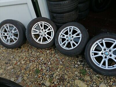 "4x GENUINE BMW X3 X4 5 SERIES 17"" ALLOY WHEELS WITH WINTER TYRES"