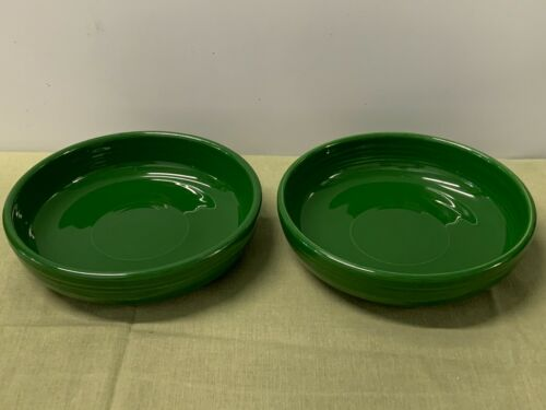 "HOMER LAUGHLIN   ""FIESTA""   FOREST GREEN 6-INCH FRUIT BOWLS, VINTAGE  --  2"