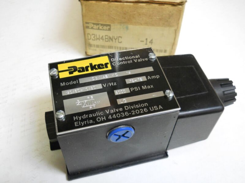 Parker D3w4bnyc Hydraulic Directional Control Valve 110/120v New  In Box