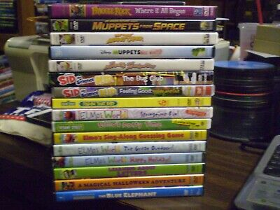 (16) Jim Henson Sesame Street Elmo DVD Lot: Muppets  Sid Science Kid  Halloween](Muppets Halloween Dvd)
