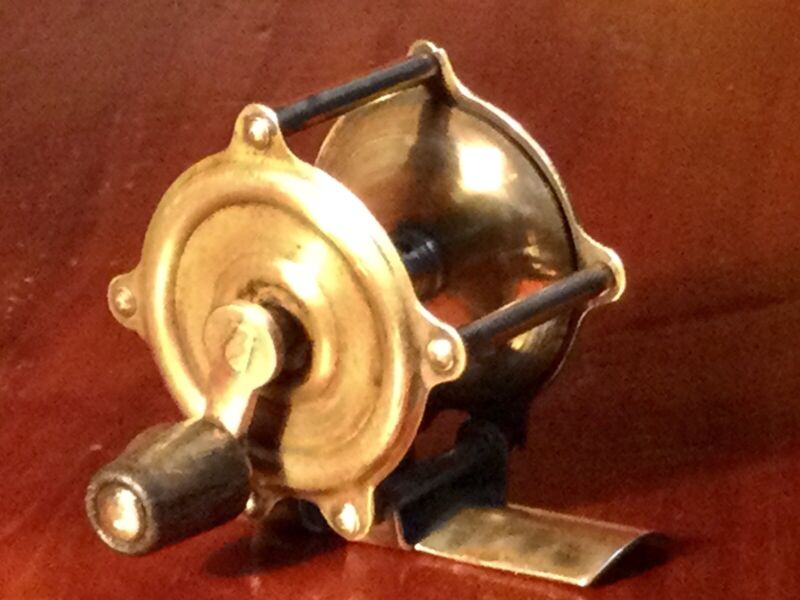 Antique brass Reel from Fly fishing History.  Great for A Collection!