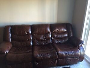 Brand new Leather recliner sofa set for sale !!!!!