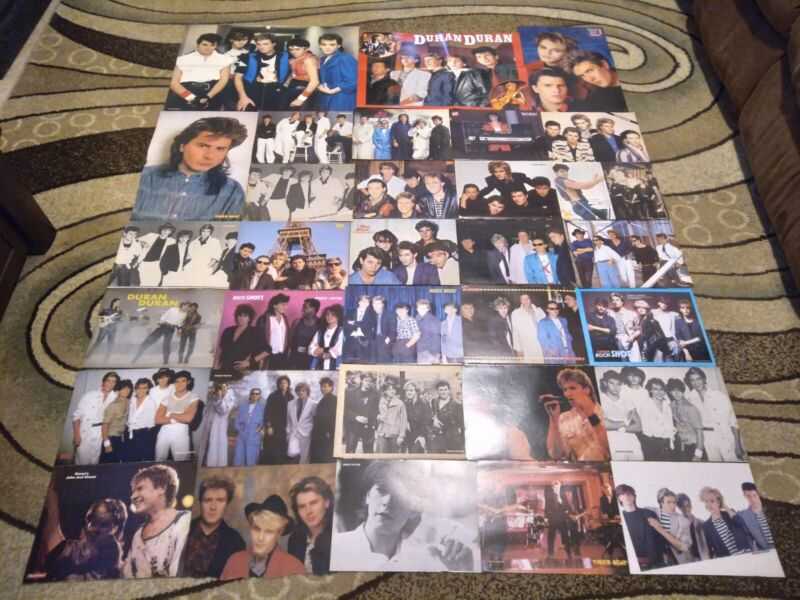 DURAN DURAN HUGE LOT OF CLIPPINGS PINUPS POSTERS CUTTINGS 80