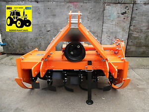 **Compact Tractor Mounted Rotovator, 1.05m Heavy Duty Rotavator Tiller**