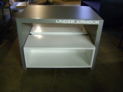 Under Armour Nesting Table Style Grey White Display Store Fixture