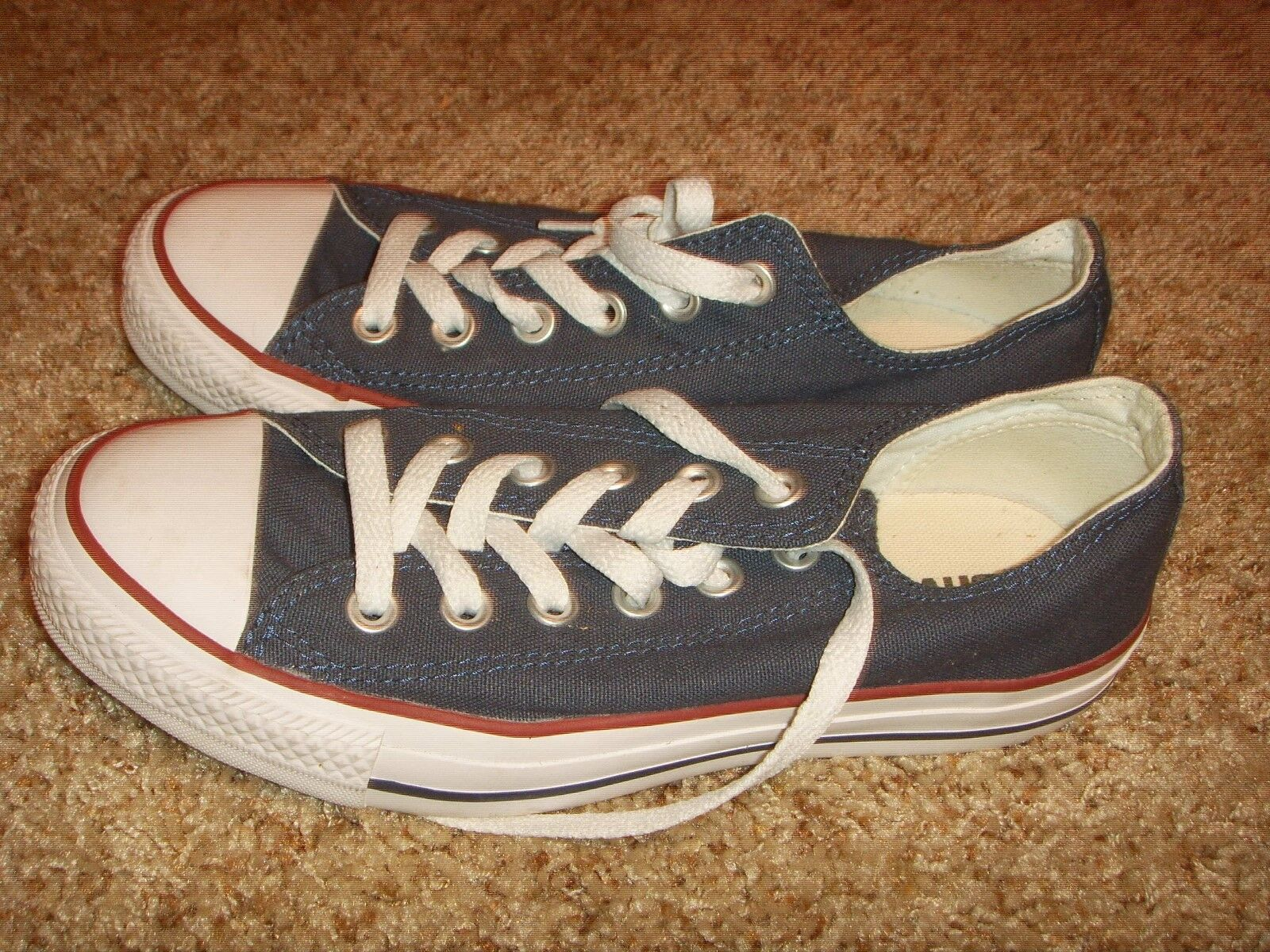 Converse All Star Chuck Taylor Canvas Shoes Low Top Blue Red White Womens Size 7