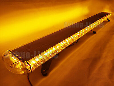 72 Inch Led Warn Amber Emergency Beacon Response Strobe Lightbar Roof Tow Truck