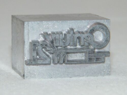 Century 21 Logo Type Set for Hot Foil Stamping / Personalizer / Press / Machine