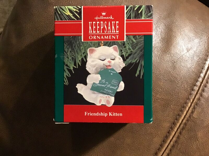 Hallmark 1990 FRIENDSHIP KITTEN Mint in Mint Box Vintage Keepsake Ornament