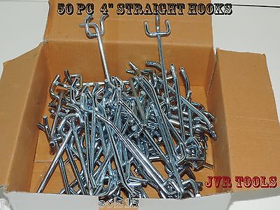 50pc 4 Peg Board Hooks Shelf Hanger Kit 4 X 14 Garage Storage Hanging Set