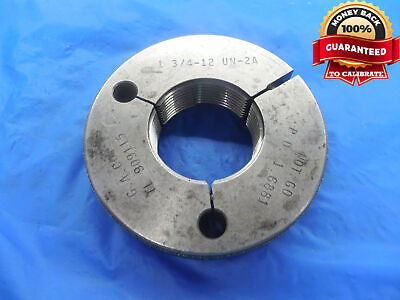 1 34 12 Un 2a Thread Ring Gage 1.75 No Go Only P.d. 1.6881 N-2a Quality Tool