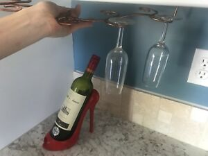 Wine holder, glass holder and 8 wine glasses