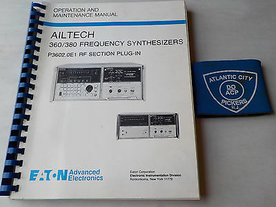 Eaton Ailtech 360380 Frequency Synthesize Operation Maintenance Manual