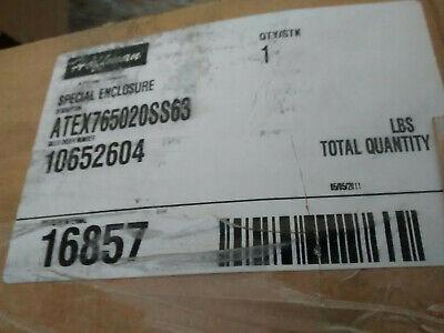 Hoffman 316 Stainless Steel Enclosure 30 X 20 X 8 Atex765020ss63 Zonex