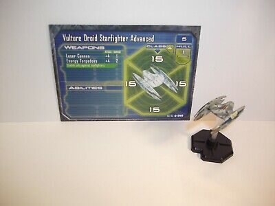 Star Wars Miniatures - Vulture Droid Starfighter Advanced 60/60 Starship Battles
