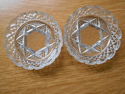 Pair of Cut Glass Pin Dishes
