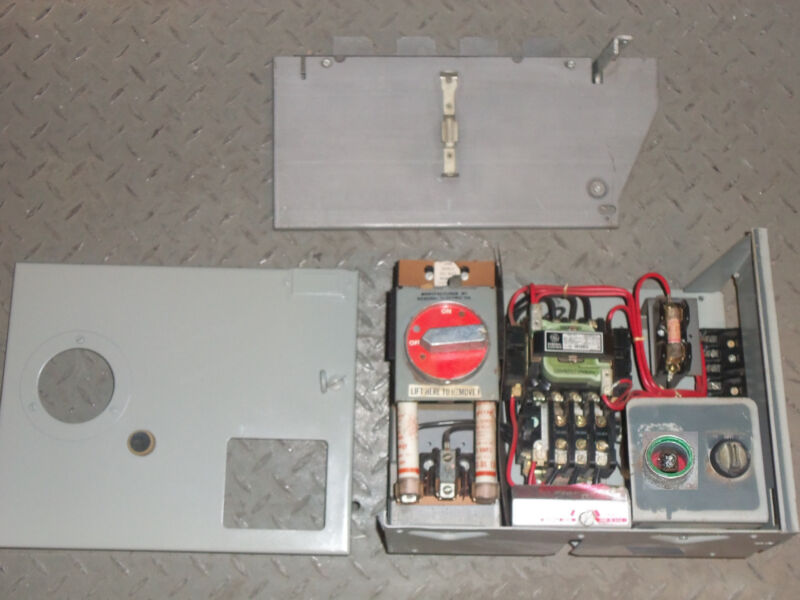 GE 7700 SERIES SIZE 1 MOTOR STARTER 30 AMP FUSIBLE FUSED MCC MCCB BUCKET LIGHT