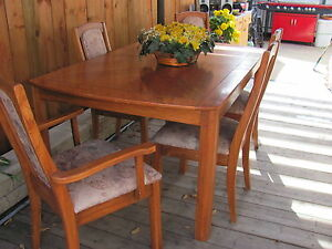 solid oak table ,chairs