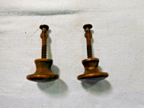 Antique ~ Salvage ~ Pair Oak Knobs to attach a mirror to the Mirror Arms 1865