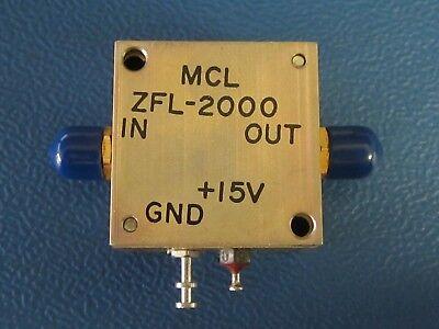 Mini Circuits Zfl-2000 Coaxial Amplifier 10 To 2000 Mhz